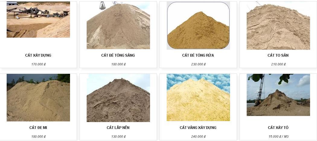 Bảng báo giá cát đổ bê tông mới nhất tại Tphcm tháng 07 năm 2020